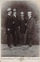Sätra Brunn. År 1891. Doktor Dahlin. Doktor Oscar Olsson. Tandläkare G. Öberg. Doktor Henrik Tham. Säsongens kvartett. Foto..jpg
