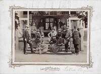 Sätra Brunn. Personal. Bl a prof Henschen. 1890-talet. Foto..jpg
