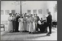 Sätra Brunn. Kyrkan. Sångövning 1917. Fram..jpg