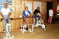 Sjukgymnastik motionscykling